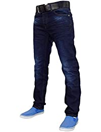 New Mens Designer Crosshatch Coated Denim Slim Fit Jeans Trousers with Free 4165a62db5
