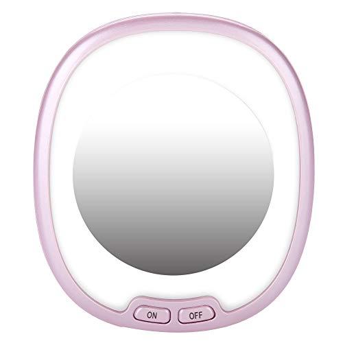 Salmue Espejo de Maquillaje LED Iluminación de Alta definición, Espejo de Maquillaje cosmético Individual, para Belleza y Cuidado de la Piel, Lámpara de tocador, Espejo portátil Profesional