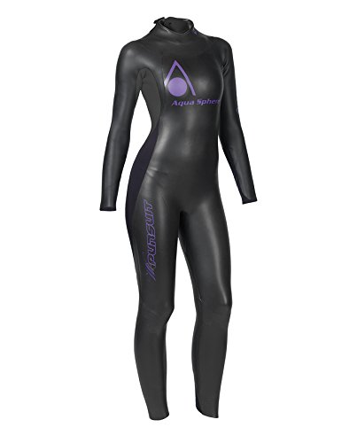 Aqua Sphere Damen w-pursuit wetsuit-black/violett, XS XS schwarz/violett