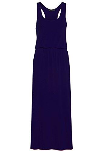 Damen Grecian Toga Puff Ball Racer Back Maxi Kleid lang Jersey Plus Größe 16-26 Gr. UK Mehr 24/26, (Grecian Kleid Plus Größe)