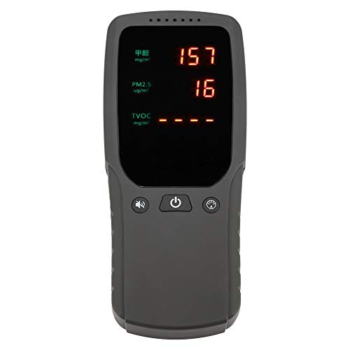Digitaler Luftdetektor, tragbarer digitaler Luftqualitäts-Formaldehyd PM 2,5 Benzoldetektor Haushalt -