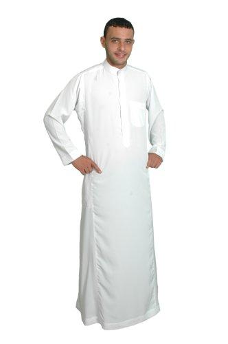 Herren-Kaftan im Saudi-Stil, Größe: XL, weiß