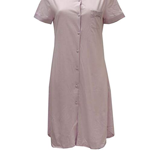 56bbce0701b2d Linclalor Camicia DA Notte Aperta IN Jersey Cotone - Violetta, 42