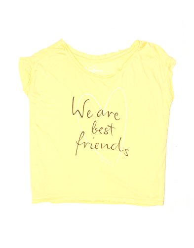 Pepe Jeans Girls' Plain Regular Fit T-Shirt (PIG0001017_Yellow_14)  available at amazon for Rs.449