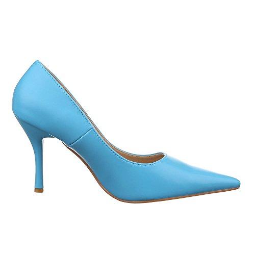Ital-Design - Scarpe con plateau Donna Blu chiaro