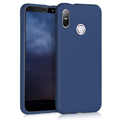 kwmobile HTC U12 Life Hülle - Handyhülle für HTC U12 Life - Handy Case in Marineblau