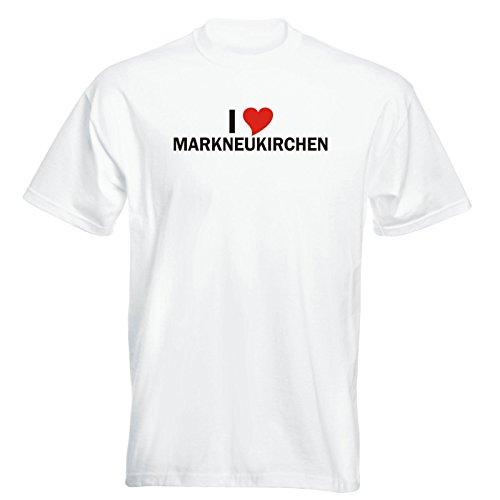 T-Shirt mit Städtenamen - i Love Markneukirchen- Herren - unisex Weiß