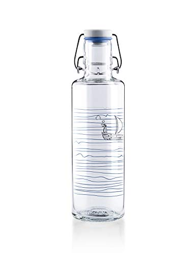Soulbottle Flasche, Glas, Heimat.Wasser, 0,6 Liter (Wasser Glas Flasche)
