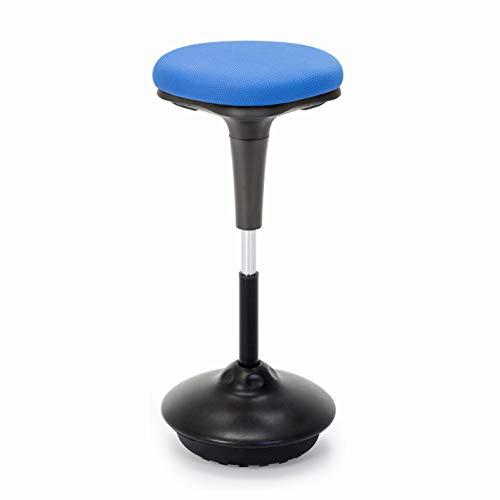 IntimaTe WM Heart Arbeitshocker,Ergonomische Stehhilfe, Hoch verstellbar 360° drehbar Sitz-Steh-Hocker, Perfekt für Stehpult (Blau)