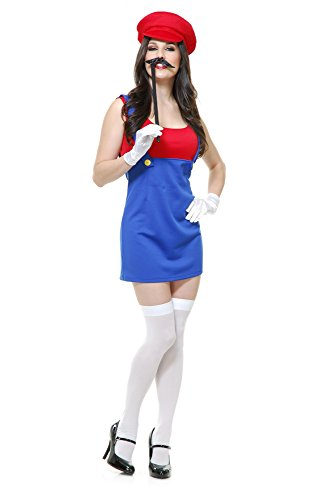 Charades Womens Patty The Plumber Halloween Costume size XS 3-5