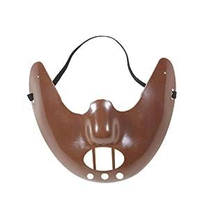Widmann 01203 Menschenfressermaske, Braun, Einheitsgröße