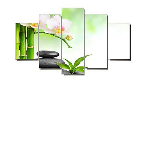 JunBo Peinture décorative Moderne Inkjet Toile Bambou liées à Cinq et Pierre
