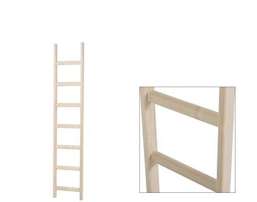 Intercon® Holzleiter mit dicken Holmen aus Fichte Massivholz in 3 Größen 135/190/240 cm (7 Stufen (190 cm))
