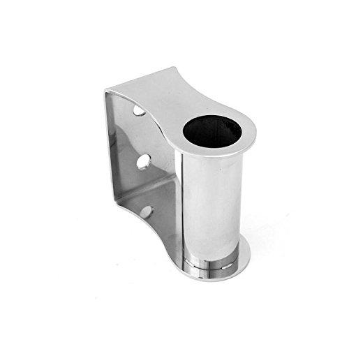 Edelstahl Wandhalter für 38 mm Rohr , Steher . Für Edelstahlrohr , Geländer , Pfosten , Wand Halter poliert