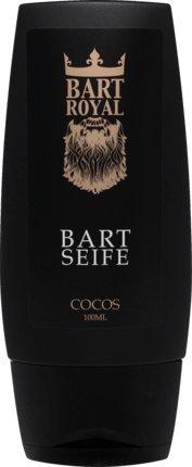 Bart Royal Bartseife Cocos, reinigt und desinfiziert den Bart, beseitigt Bartschuppen, für die tägliche Bartpflege, Made in Germany, 1 x 100ml