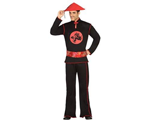 Atosa - Disfraz Hombre Chino, Color Negro, M-L (30681)