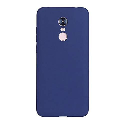 Caler Case Xiaomi Redmi 5 Plus Funda con Absorción de Choque Flexible y Duradera con Carbono Fibra Diseño para Xiaomi Redmi 5 Plus Silicona Fundas Caso Carcasas Protectora, Azul Marino