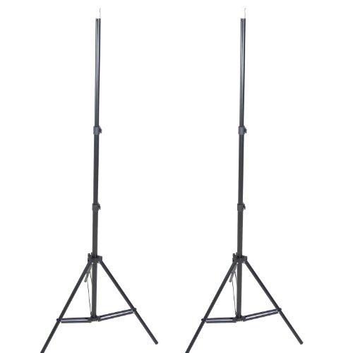 DynaSun 2x Profi Qualität Lampenstativ für Blitze/Lampen und Tasche schwarz
