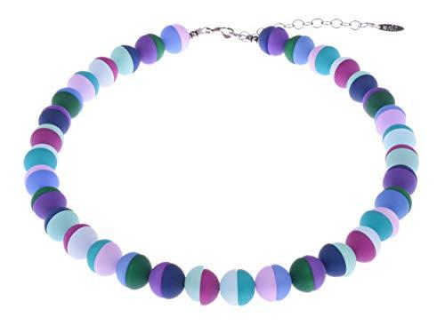 """Adi Modeschmuck Halskette""""Miriam"""" 12mm Halbperlen aus original italienischem Polaris in frischen Farben, handgefertigt in Berlin 5"""