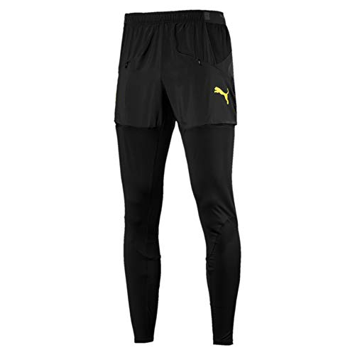 PUMA Herren BVB Stadium Pro Pants Jogginghose, Black, L