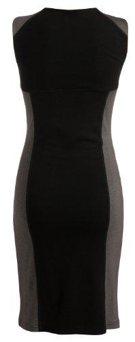 Noppies Damen Umstandsmode Kleid 30711 Etui, Rundhals Mehrfarbig (black 06)