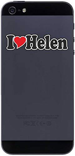 Aufkleber - I Love Heart - Decal Handyaufkleber Handyskin 50 mm Ich Liebe - Name (Mann, Frau, Kind, Junge, Mädchen) - I Love Helen