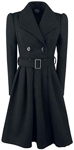 Vintage Mantel Schwarz (H&R London Black Vintage Swing Coat Girl-Mantel schwarz L)