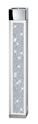 My IMPLEXIONS Moderner Teelichthalter Pylon groß mit Swarovski Elements Kristallen/Besondere Tisch-Dekoration