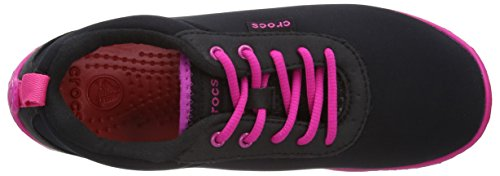 Crocs Duet Busy Day 15500, Chaussures de sports extérieurs femme Noir (Black/Candy Pink)