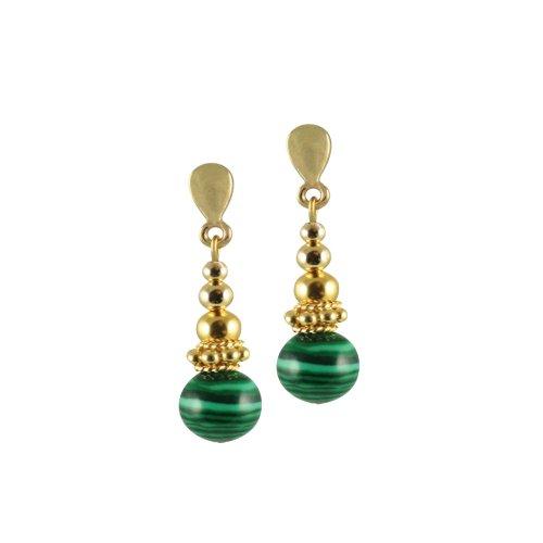 regal-green-malachite-gemstone-drop-pierced-earrings-gold-with-gift-box