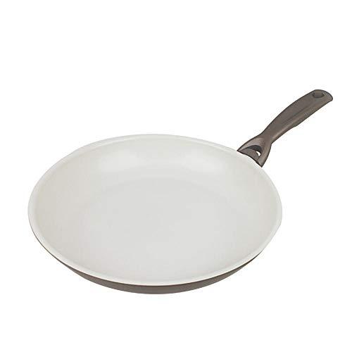 Non-stick Steel Pan Torte (Busi Frying Pan Weiße Keramik-Torte mit flachem Boden und Antihaftbeschichtung in Champagnergold 26 cm)