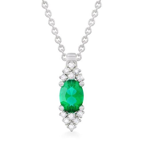 c8b3ca7fb34 VIRNA diamond pendant in 18kt white gold and palladium with emerald for  women