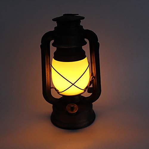 HHCC Flamme Lampe Licht Antikes Kupfer Laterne Flackerndes LED hängendes Metalllicht, Vintage Laterne Camping Laterne Storm Light Dimmbares batteriebetriebenes Weihnachtslicht, warmes Weiß -