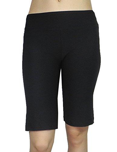 bally-total-fitness-damen-athletische-fitness-ausbildung-yoga-bermuda-shorts-s-m-schwarz