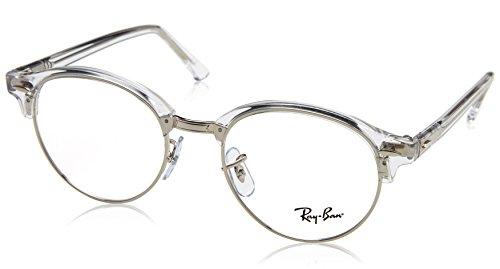 Ray-Ban Unisex-Erwachsene 0RX 4246V 2001 47 Brillengestelle, Weiß (White Transparent),