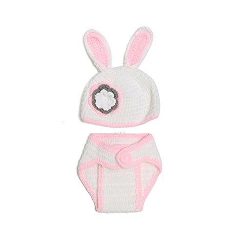 Andy's Share Neugeborene Schätzchen Baby Mädchen Jungen Häkelarbeitknit Kostüm Kleidung Foto Fotografie Prop Mütze (Kostüm D)