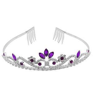 Diadema Tiara Púrpura Cristal Diamante de Imitación Accesorio para Cabello