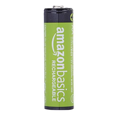AmazonBasics Vorgeladene Ni-MH AA-Akkus – Akkubatterien, 2000 mAh, 16 Stck (Batterienfolie kann vom Produktfoto abweichen) - 2
