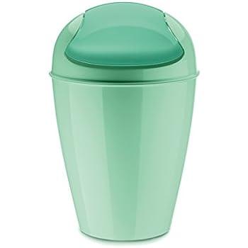 Kunststoff solid wei/ß koziol Schwingdeckeleimer 5 L Del S 21,6 x 21,6 x 37 cm