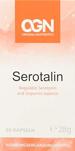 Serotalin® Original Nootropics - Ihre tägliche Portion Glück! - Vegane Kapseln mit 5-HTP, DMAE, L-Tyrosin, P5P - Für einen ausgeglichenen Serotonin - und Dopamin-Spiegel