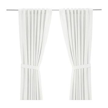 """IKEA 2-er Set Gardinen """"Ritva"""" - Gardinenschals mit Raffhaltern je ..."""