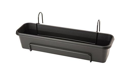 Stewart 4060005Blumenkastenset für Balkon, plastik, schwarz, 17x12.5x13.752000000000001 cm