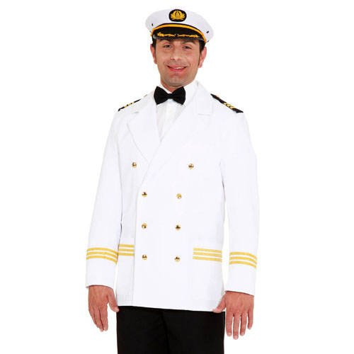 Kostüm Thema Party Traumschiff - PARTY DISCOUNT Kostüm Kapitänsjacke, weiß, Gr. 58-60