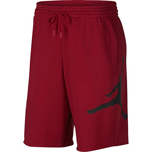 d81b2482f393 Nike Herren Jordan Jumpman Air Fleece Shorts, Gym Red Black, M