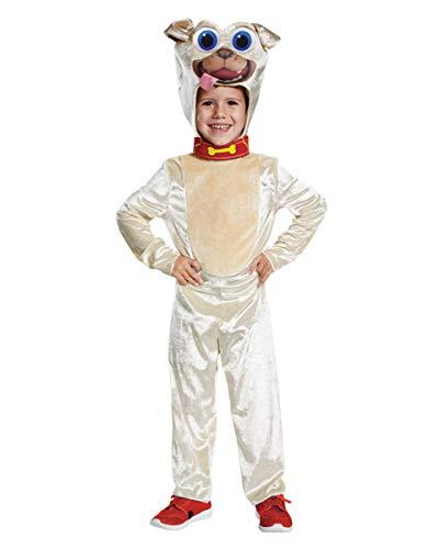 Welpen Kostüm Kinder - Horror-Shop Puppy Dog Pals Rolly Welpen Freunde Kinder Kostüm M