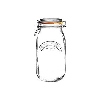 Kilner Round Clip Top Glass Jar, 1.5 Litre