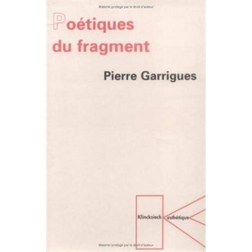 Poétiques du fragment