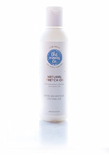 The Moms Co Natural Stretch Oil, Chemical-Free Elasticity Belly Oil For Moms To Be (100ml / 3.4 Fl. Oz.)