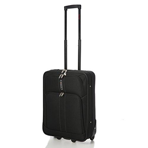 5 cittˆ 55x40x20 cm RYANAIR CABINA MAX SIZE 41 litri superleggeri viaggi avanti bagaglio a mano Valigia con 2 ruote, quindi Approvato per Easyjet, British Airways e molti altri! (21