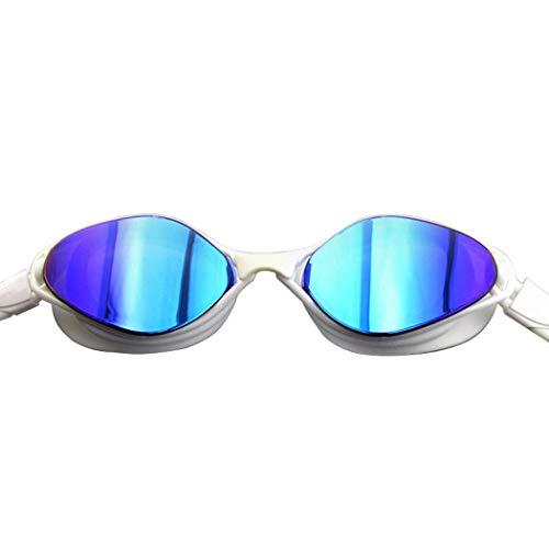 YXB HD Schwimmbrille Adult Large Frame Plated Brille, Silikon Wasserdicht, Anti-Fog Und UV-Schutz,D